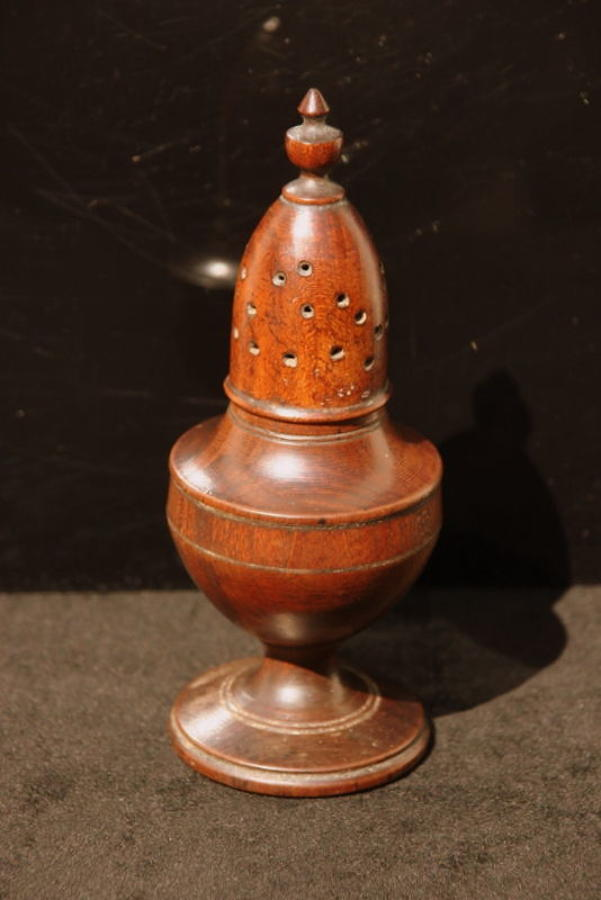 Fruitwood Muffineer c.1780