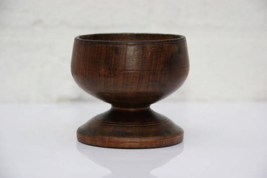 English Treen Salt early 19th century.