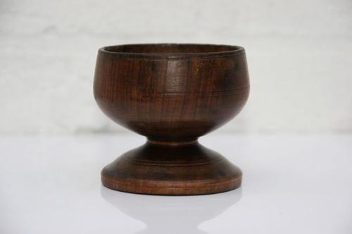English Treen Salt early 19th century.