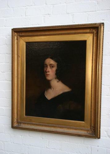 19th Century oil portrait of a lady