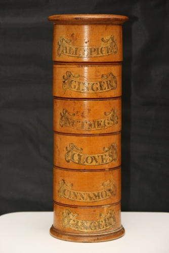 Spice Tower, 6 Tier, English, Early 19th Century