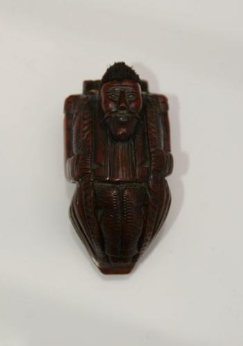 Coquilla Nut  Figural snuff box 19th century