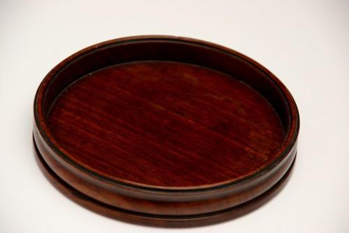 Mahogany Wine Coaster early 19th