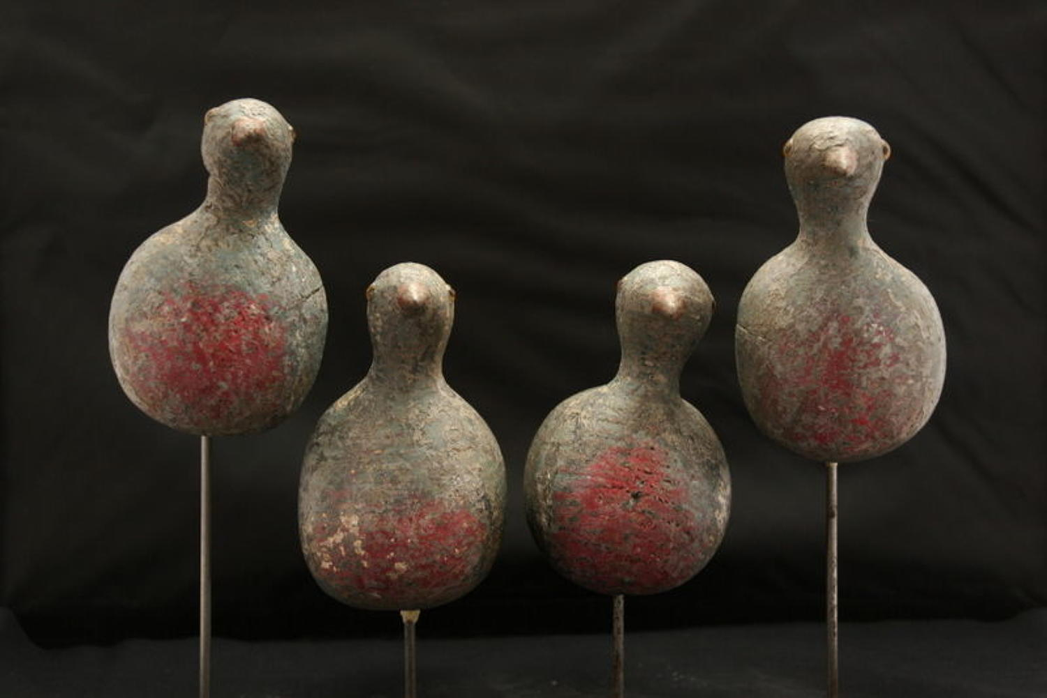 Set of Four Decoy Pigeons