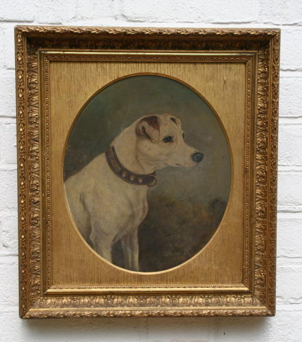 Dog Portrait, 19th century, Jack Russell ?