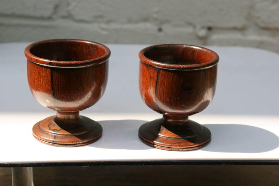 Pair of 19th century Treen salts