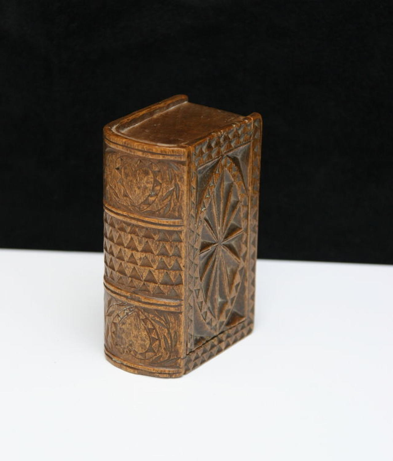 Treen Book box snuff box early 19th century