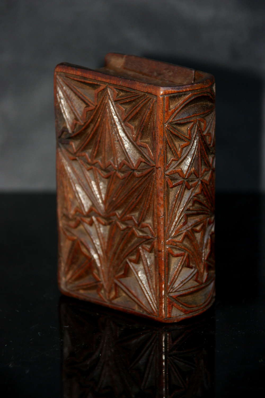 Treen Book Box Snuff Box early 19th century