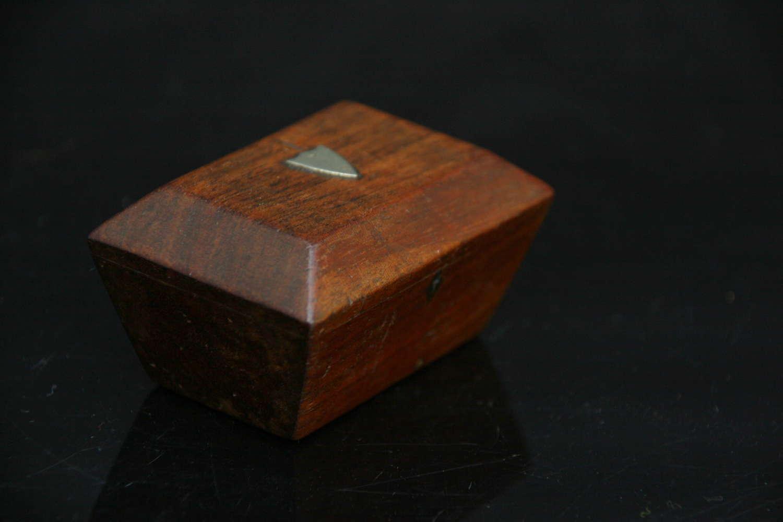 Treen Caddy form Snuff Box 19th century