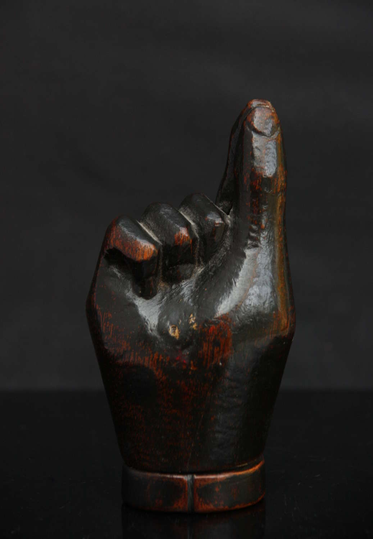 Treen sculptural hand