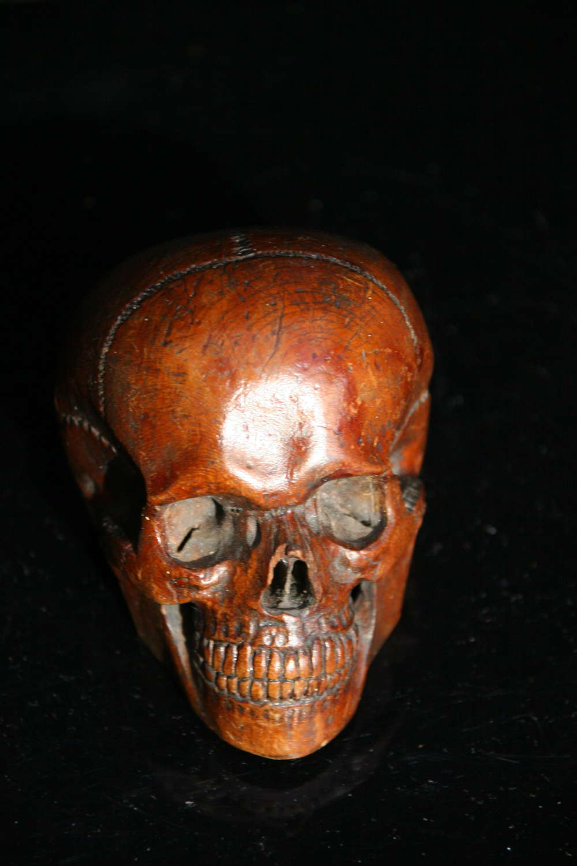 Treen Skull early 19th century.