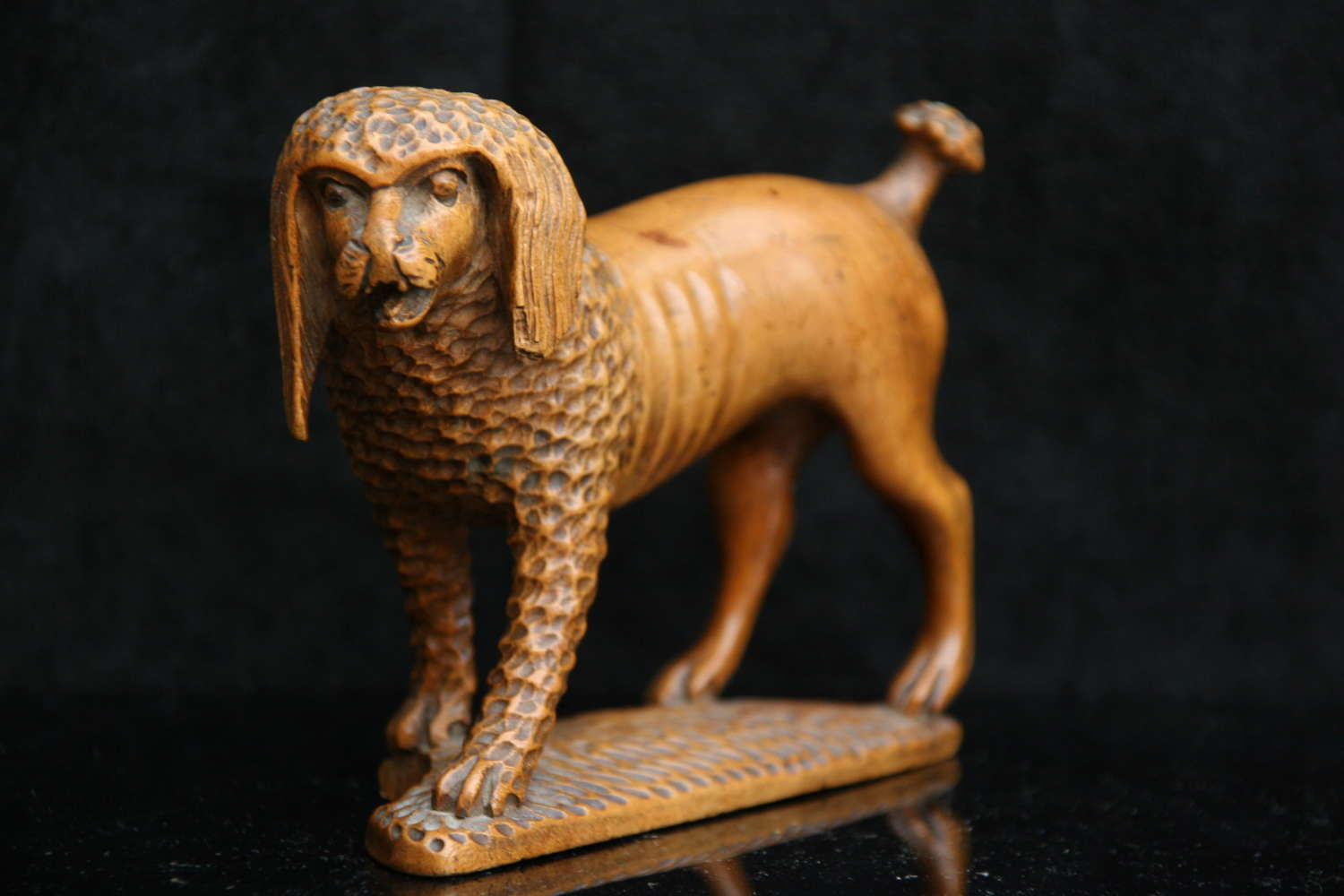 Treen  Dog Sculpture 19th century