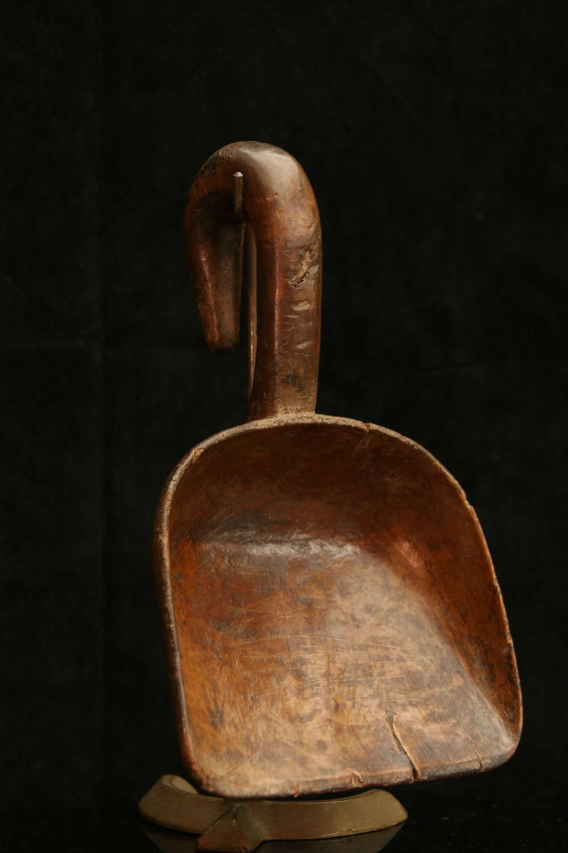 Treen Scoop , shovel, ladel 19th century