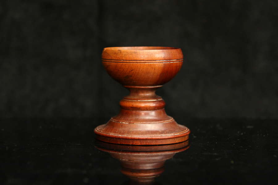 Fruitwood Treen Salt 19th century
