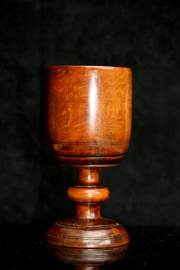 Treen Boxwood 19th century Goblet