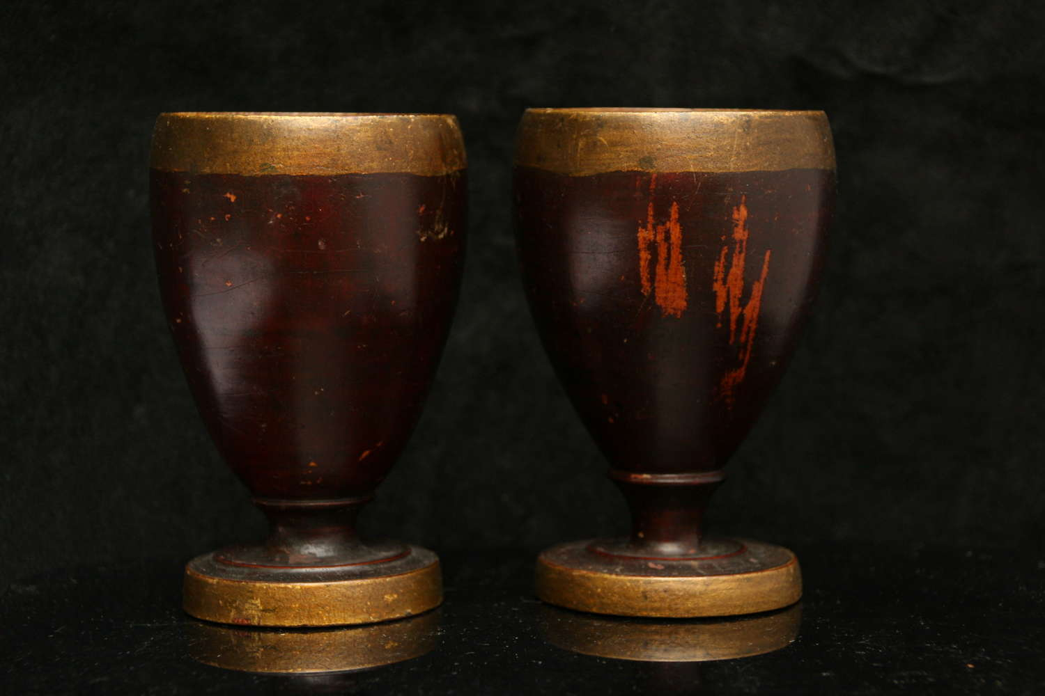 A Pair of Treen Goblets late 18th century