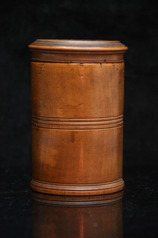 A Treen spice pot c.1810