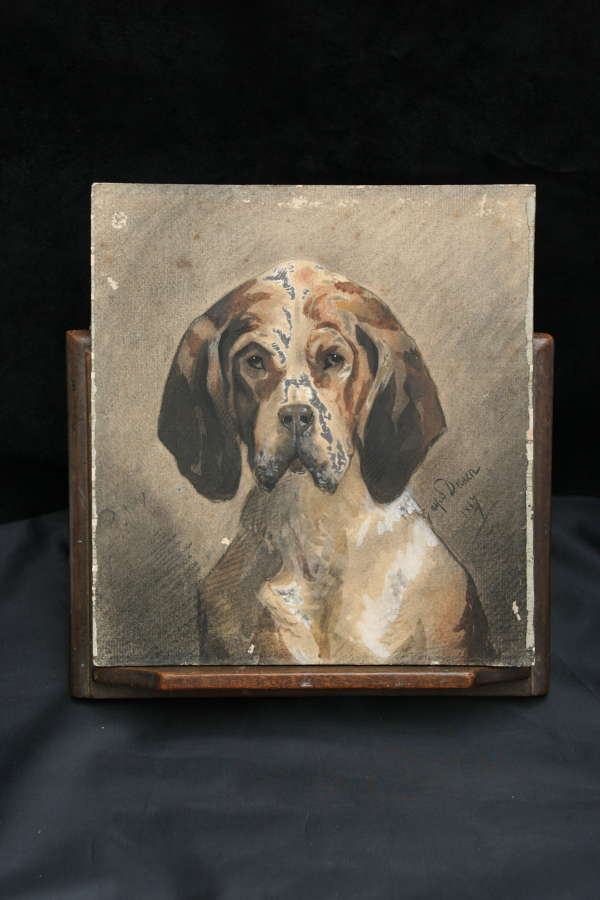 Dog portrait 19th century
