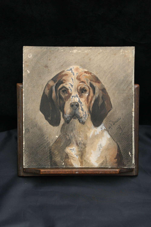 Dog portrait 19th century