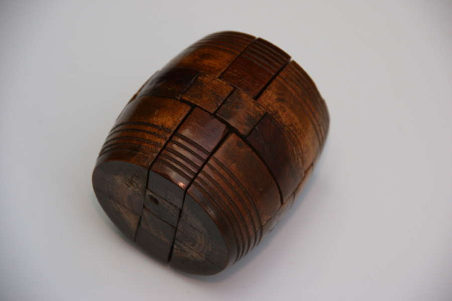 Treen Barrel Puzzle late 19th century