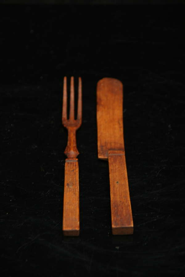 Treen Knife and Fork 19th century