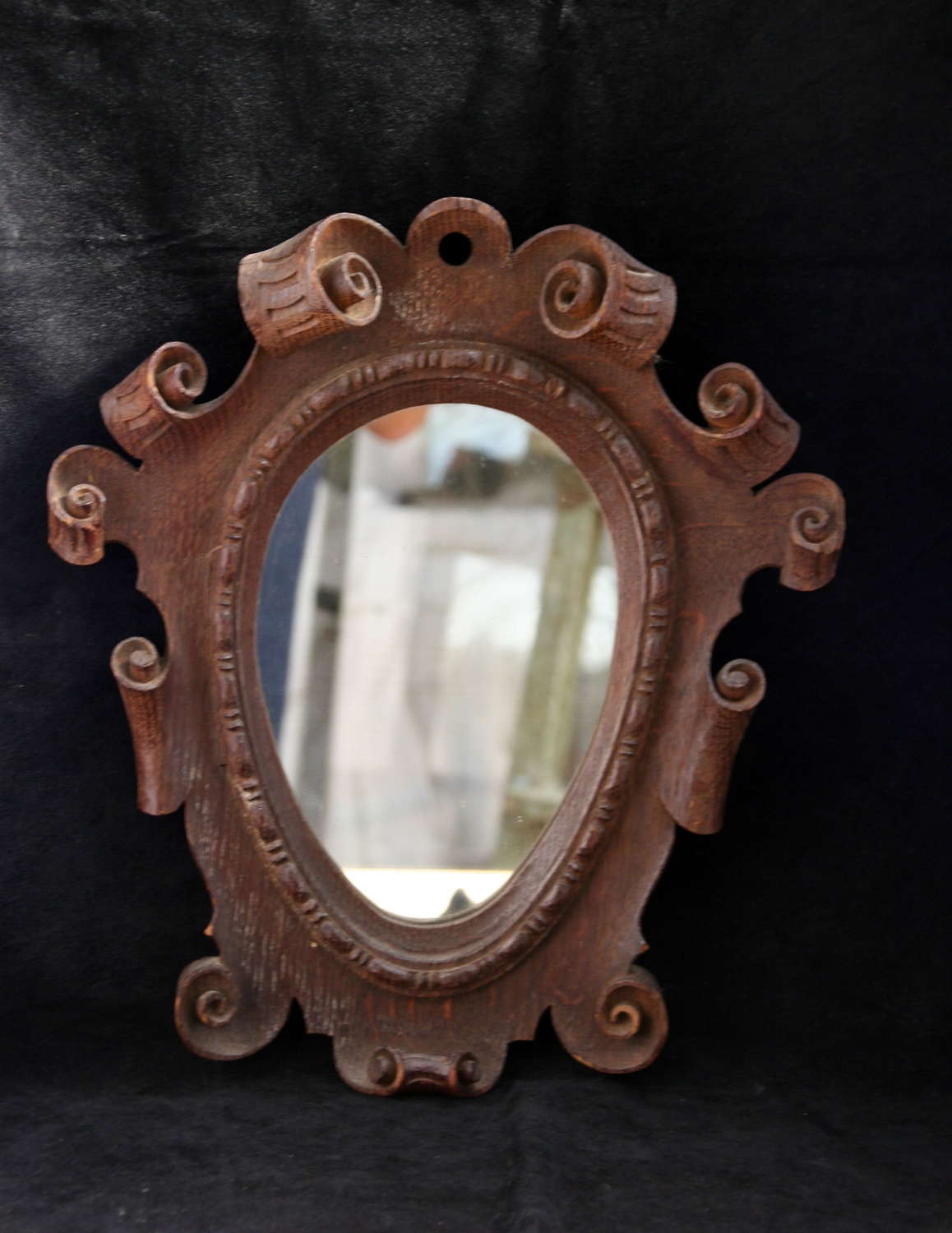 19th century Oak Mirror