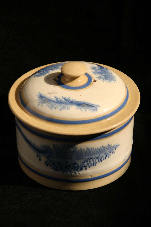 Mochaware lidded pot 19th century
