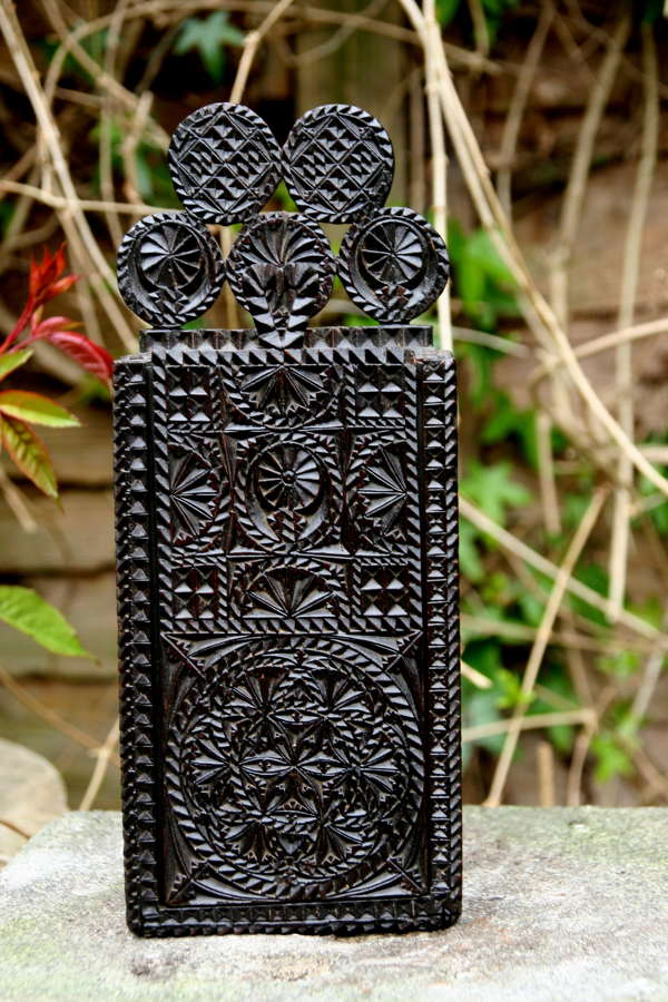 Treen 18th century Chip carved  Candle box Scandinavian