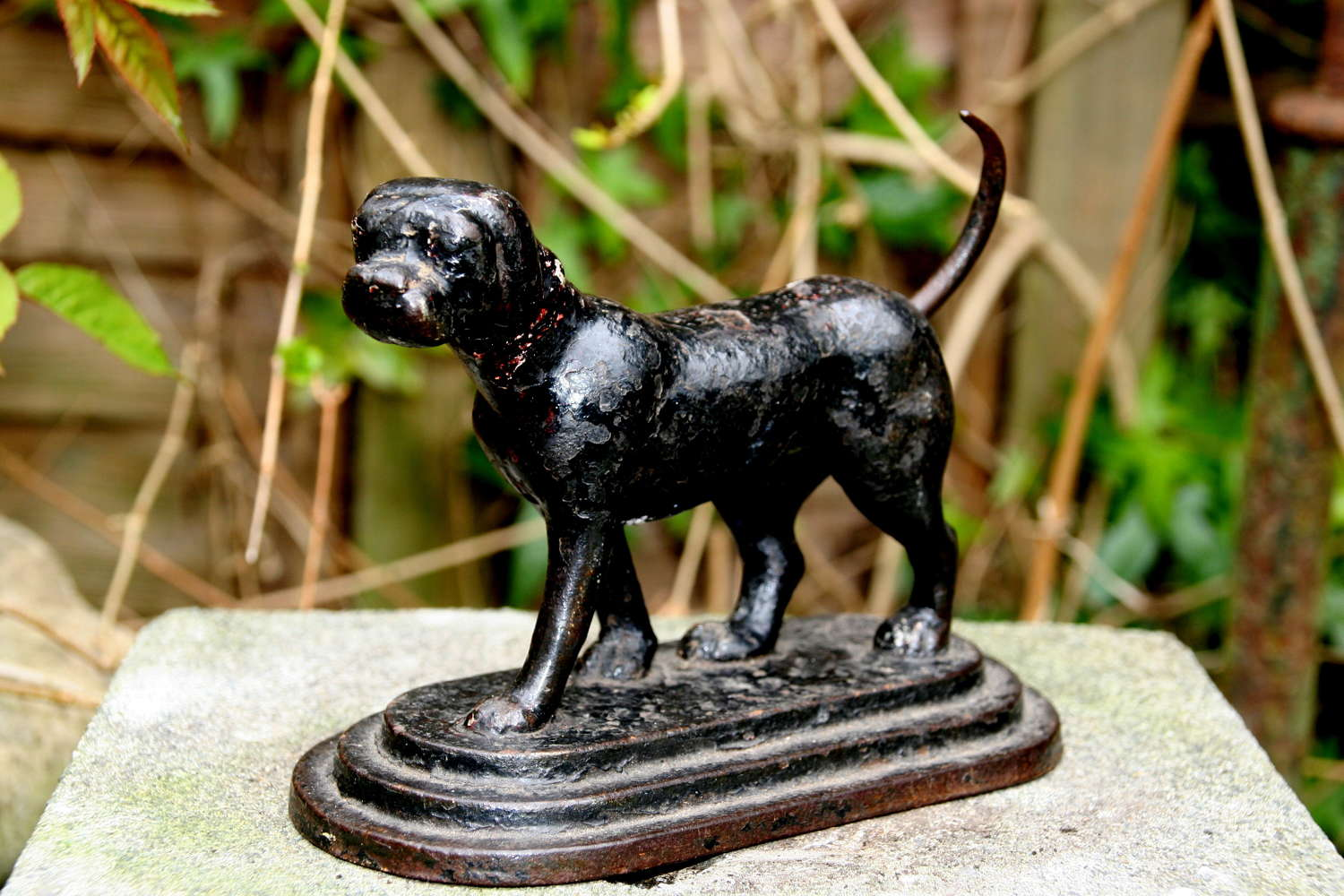 Cast iron Dog Door Stop 19th century