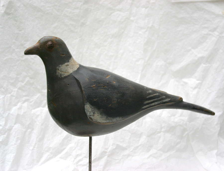 Painted Wooden Pigeon Decoy