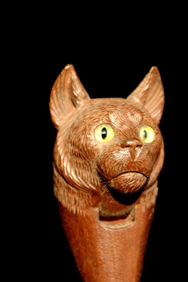 Treen Cat Nutcracker c.1900