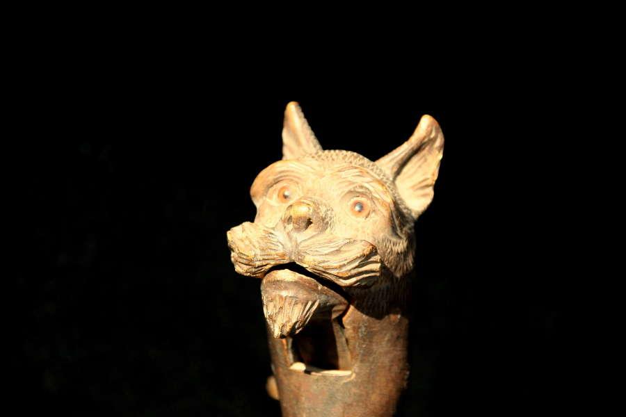 Treen Dog figural Nutcracker 19th century