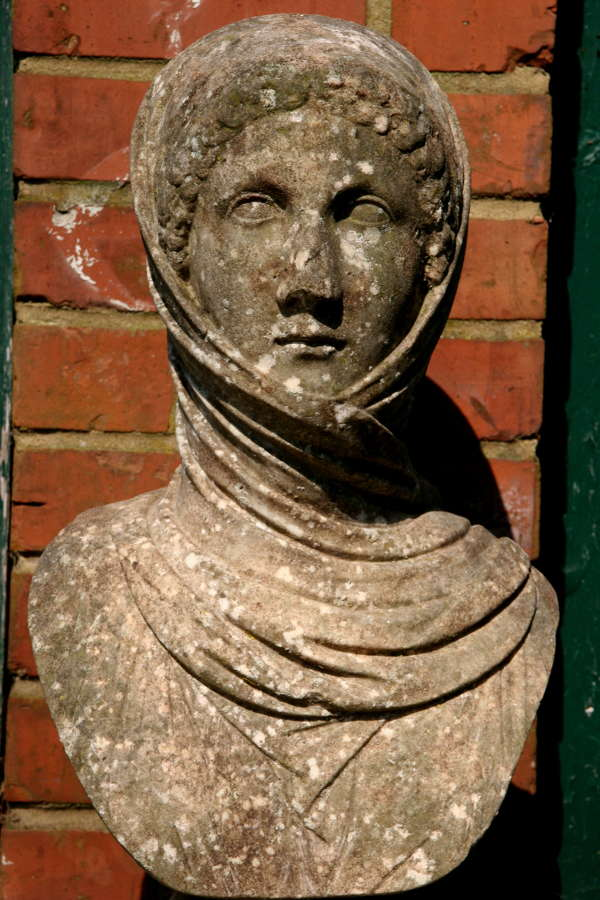 19th century Marble Bust of a Lady, 'Winter'