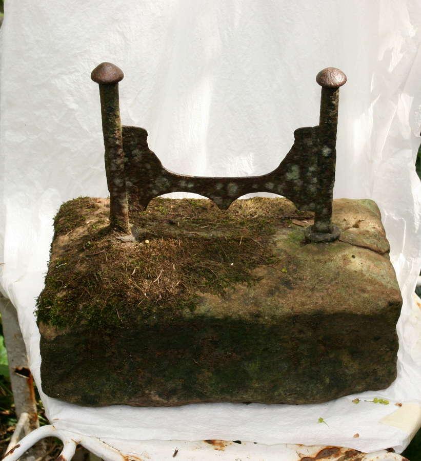 18th century cast iron and stone Foot scraper
