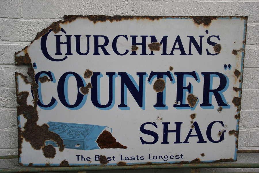 Churchmans Advertising enamel sign