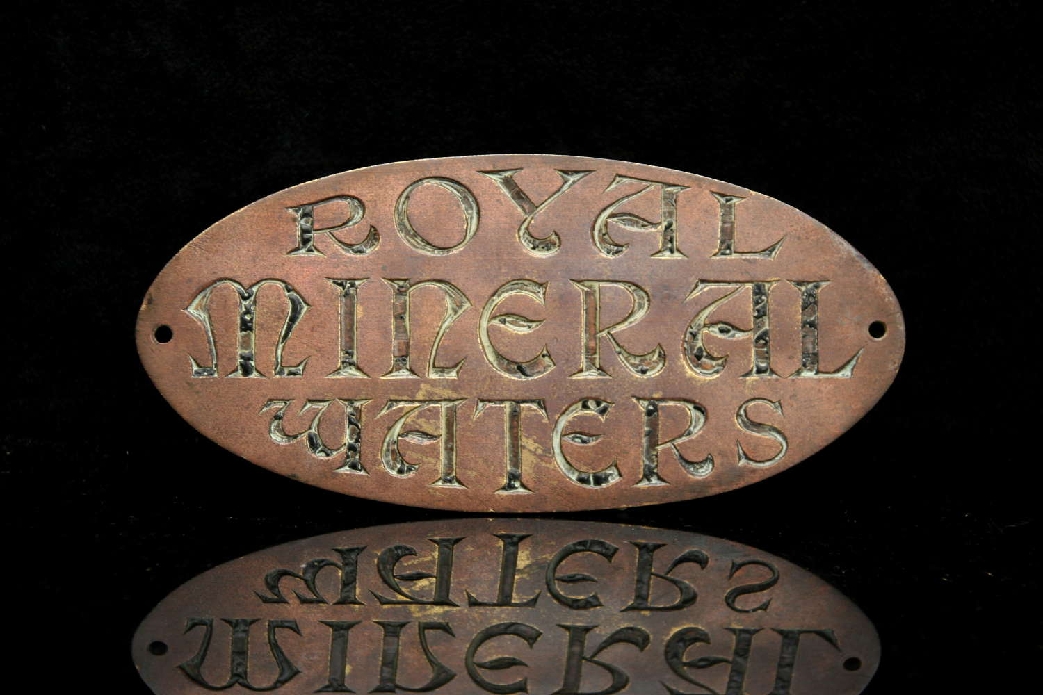 Royal Mineral waters Victorian sign