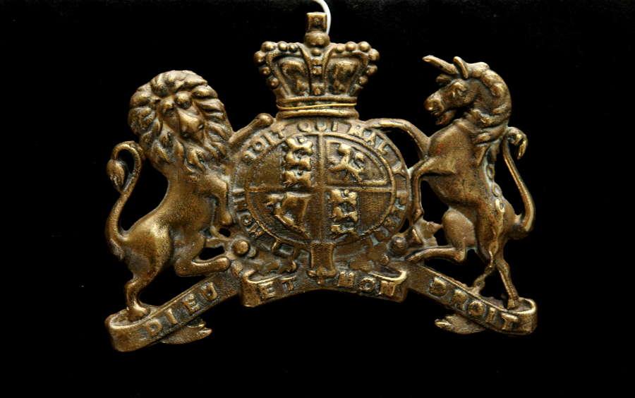 Brass Royal Victorian Armorial