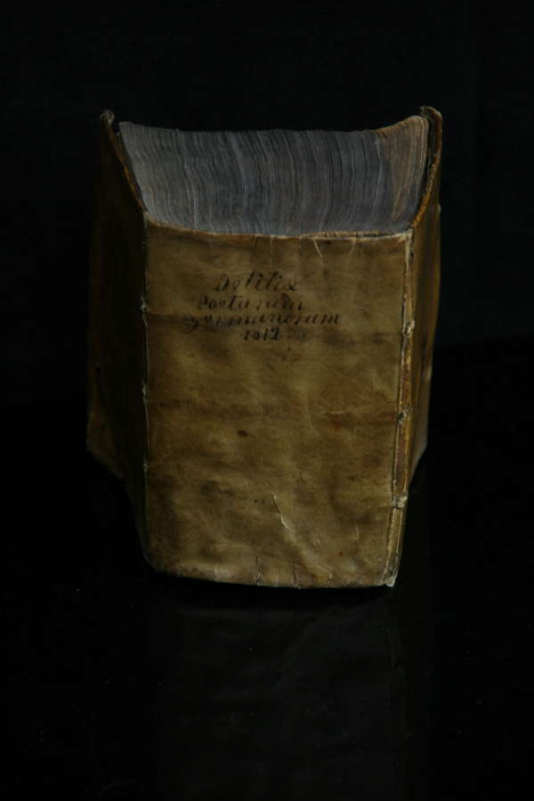 1612 dated Vellum coated Latin Poetry Book