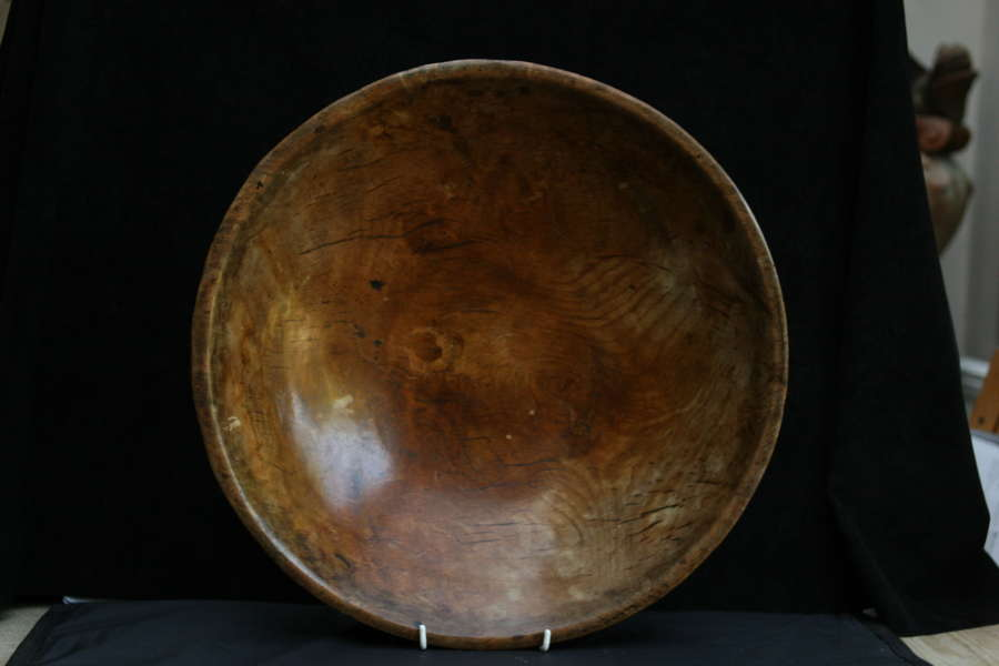 Treen Sycamore Dairy Bowl c.1780