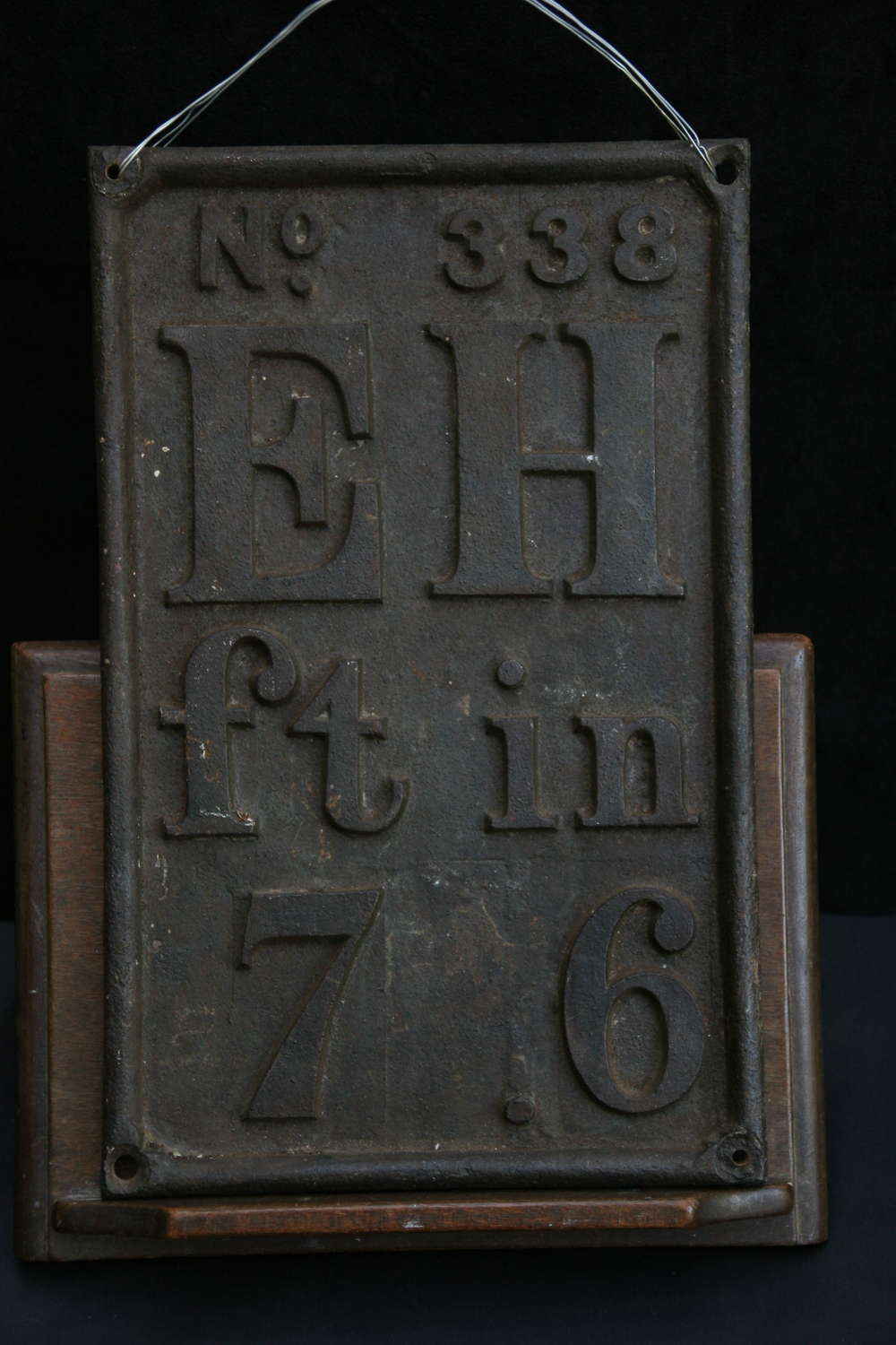 Cast Iron Sign, early 20th century