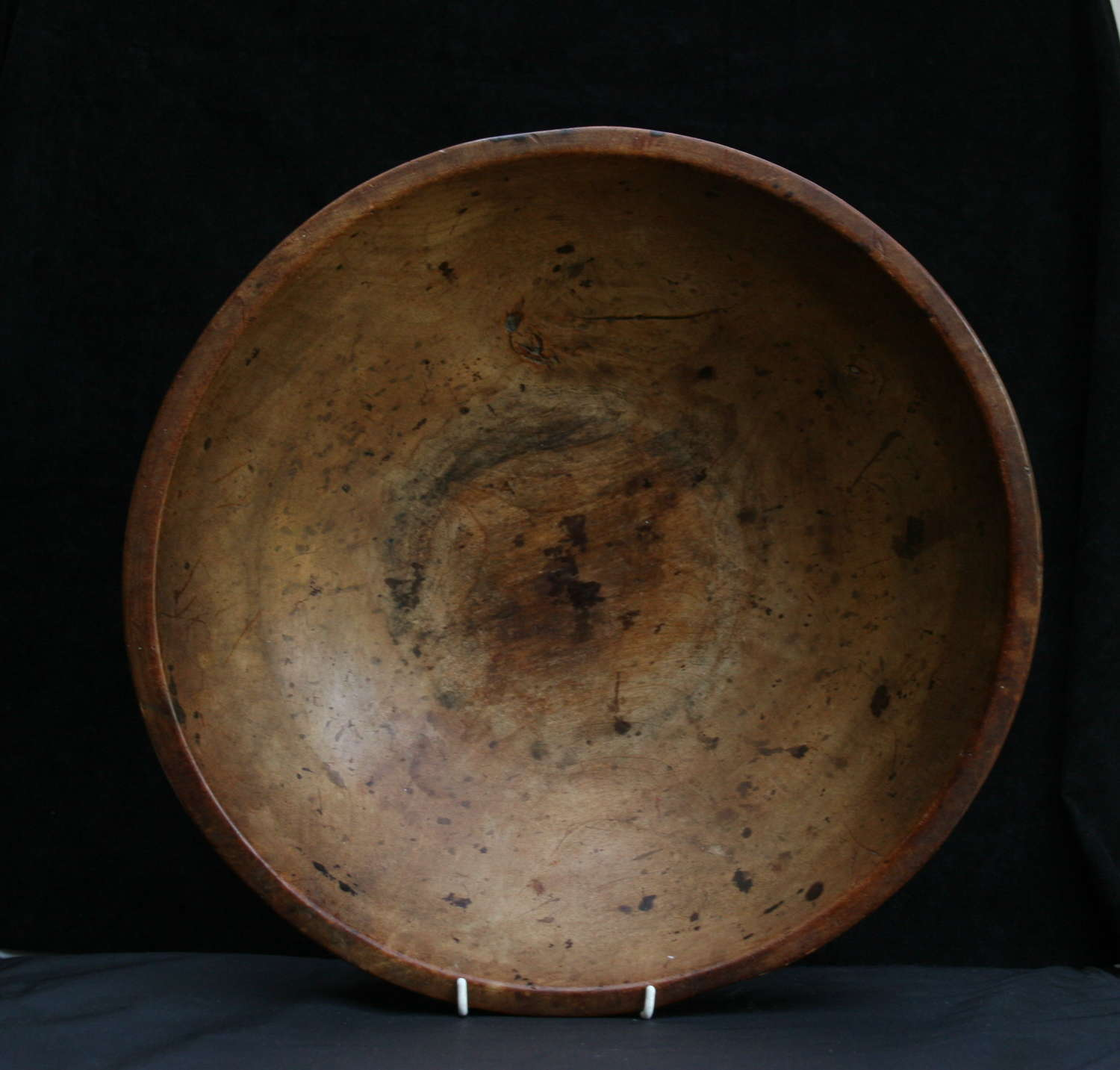 Treen Dairy / kitchen Bowl c.1810