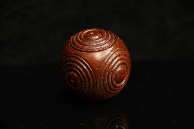 Treen Puzzle ball 19th century
