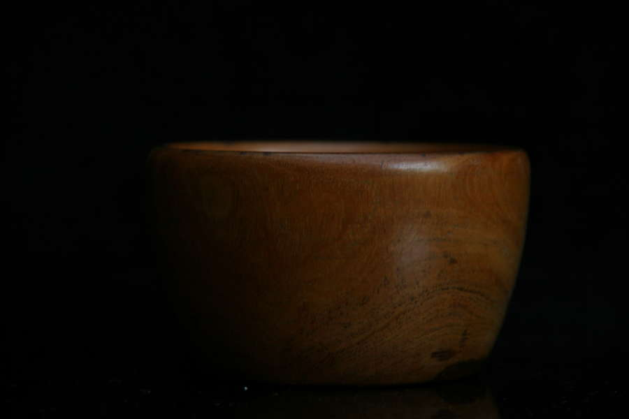 Treen Wool Bowl 19th century