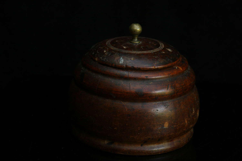Treen lidded Pot