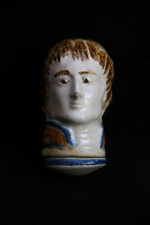 Pratt Ware Napoleon's head Snuff Box