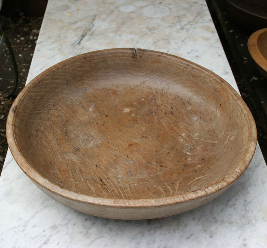 English Treen Dairy / Kitchen Bowl 19th century