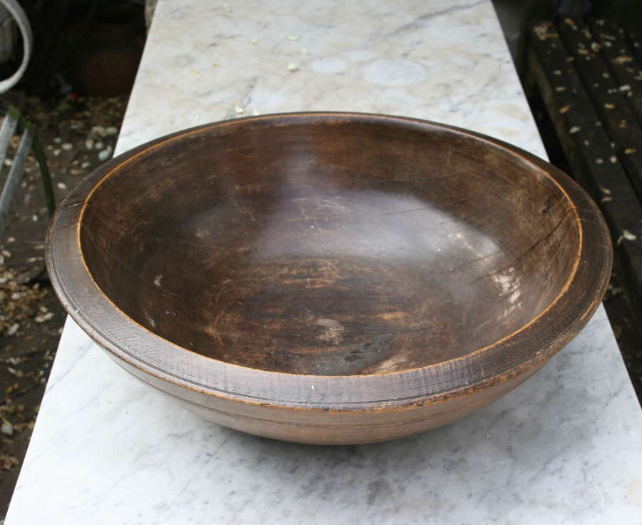 English Treen Dairy , Kitchen Bowl 19th century