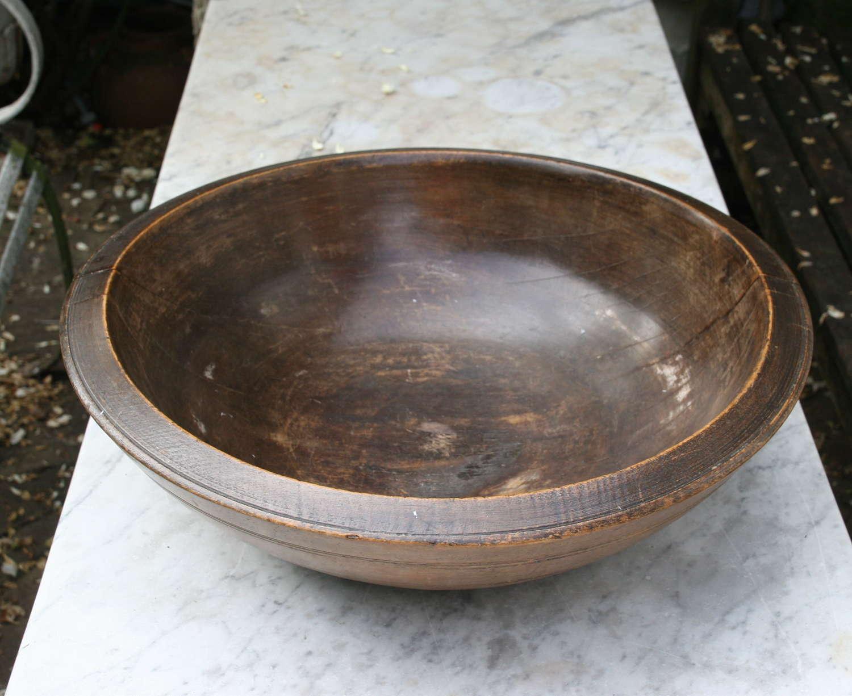 English Treen Dairy , Kitchen Bowl 19th century