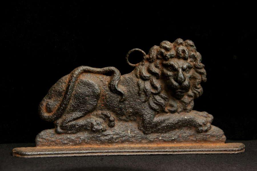 Cast Iron Lion Chimney Ornament c.1800.