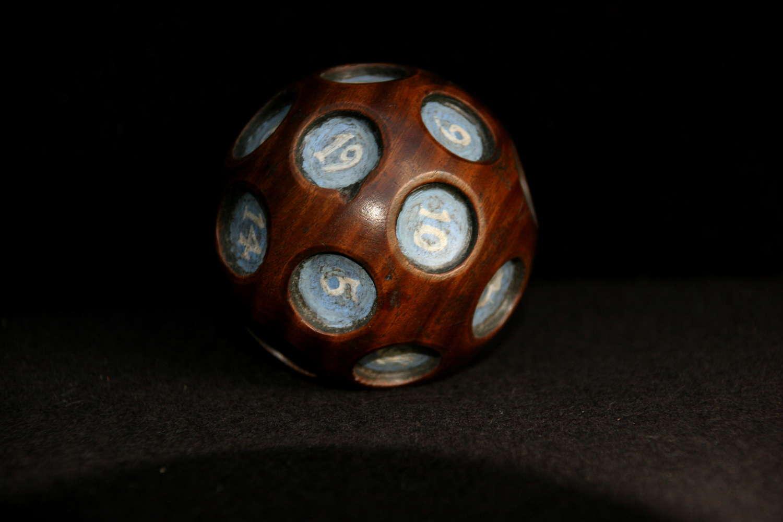 Treen Gaming Ball, 19th century.